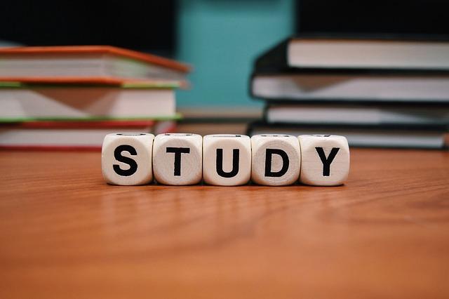 kostky s nápisem studium