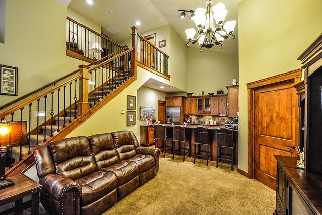 schodiště nad kuchyní